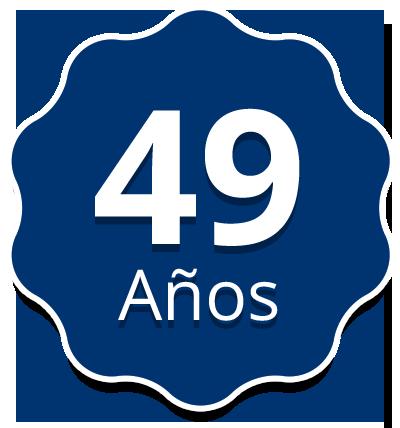 49 Años de experiencia